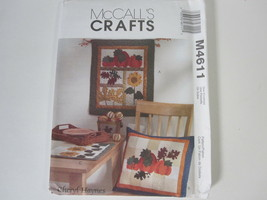 McCall's Crafts Pattern #M4611 Harvest Sampler Wall Hanging Pillow Runne... - $5.89