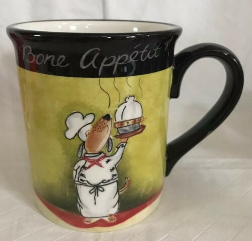 Certified International Tracy Flickinger Dogs Serving Bone Appetit! Mug Cup