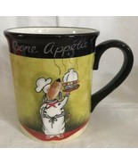 Certified International Tracy Flickinger Dogs Serving Bone Appetit! Mug Cup - $13.85