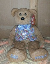 """Ty B EAN Ie Baby 2006 """" Dad 2006 """" Ty Store Exclusive Bear """"Dad Rocks"""" - $3.99"""