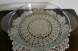 "Libbey Brand ~ Clear Glass ~ 10"" Pie Plate ~ Oven & Microwave Safe - $26.93"