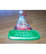 """Disney Cars Christmas Holiday 16"""" Santa Hat Lightening McQueen Mater Blu... - $14.00"""
