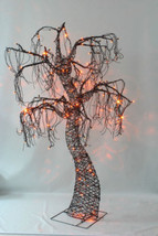 Haunted Metal Tree 240 LED Lights Graveyard Outdoor Yard Decor 7 Ft. Lig... - $92.45