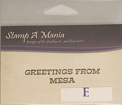 Stamp A Mania GREETINGS FROM MESA Sentiment Stamp