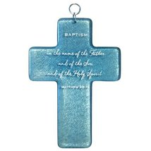 Enesco This Is the Day by Gregg Gift Baptism Glass Wall Cross, 8.125-Inch - $47.83