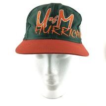 Vintage U of M Hurricanes Snapback Hat University of Miami VTG - $39.55