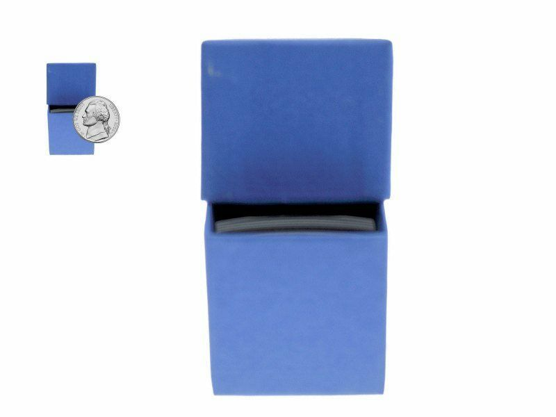 "Guardhouse Blue/Nickel Coin Box with 100 flips, 2"" x 2"" x 8.5"" image 4"