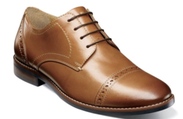 Nunn Bush Fifth Ward Flex Cap Toe Oxford Shoes Cognac  Dressy 84816-221 - $84.60