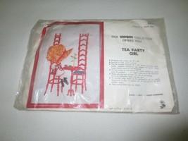 """COMPLETE Vintage C.S.C. Applique TEA PARTY GIRL Kit #0304 - 16"""" x 22"""" - $4.95"""