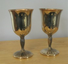 International Silver Co Silver plate Goblets with FREE Star Bucks Coffee... - $12.00