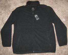 NEW WEATHERPROOF FULL Zip Fleece Jacket MENS XL BLACK $55.00 NWT TOP COAT - $28.01
