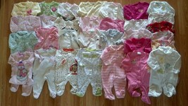 Lots of Girl's Size 6 M 3-6 Months One Piece Footed Pajama Sleeper Carte... - $3.00+