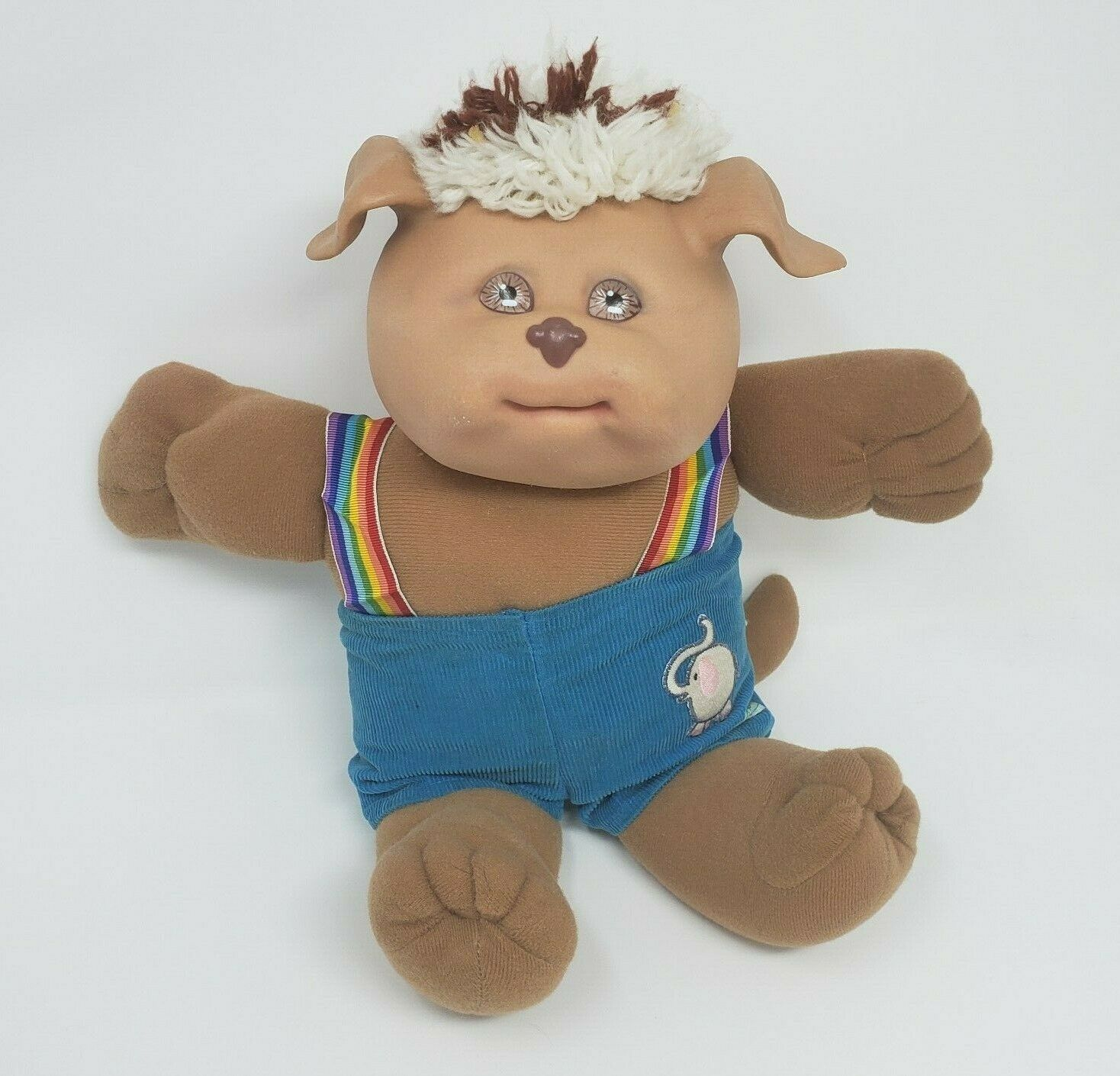 Primary image for VINTAGE 1983 CABBAGE PATCH KIDS KOOSAS DOLL STUFFED ANIMAL PLUSH TOY BLUE PANTS