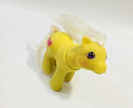 Vintage 1987 Hasbro My Little Pony Yellow  Made In Hong Kong - $17.81