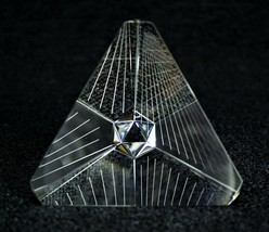 Steuben Tetron Paperweight Signed Large size - $380.00