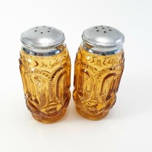 L.E. Smith Moon And Stars Amberina Salt And Pepper Shakers  image 1