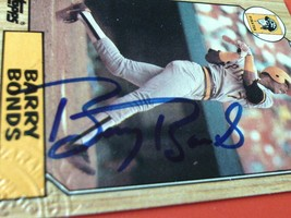 1987  TOPPS  #120   BARRY  BONDS   ROOKIE   AUTHENTIC  HAND SIGNED  AUTO... - $84.99