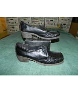 NIB TROTTERS New WK LDY Black Occupational Leather Tie Heel Size 6.5 B - $29.69