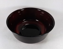 "Vintage Arcoroc France Large Ruby Mixing Nesting Bowl 8 7/8"" x 3 7/8"" - $19.95"