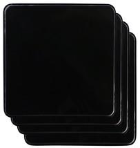 Reston Lloyd Square Gas Stove Burner Covers, Set of 4, Black New - $18.10