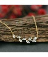 "1.50Ct Marquise Cut Diamond Leaf Pendant 18"" Free Chain 14k Yellow gold ... - $110.49"