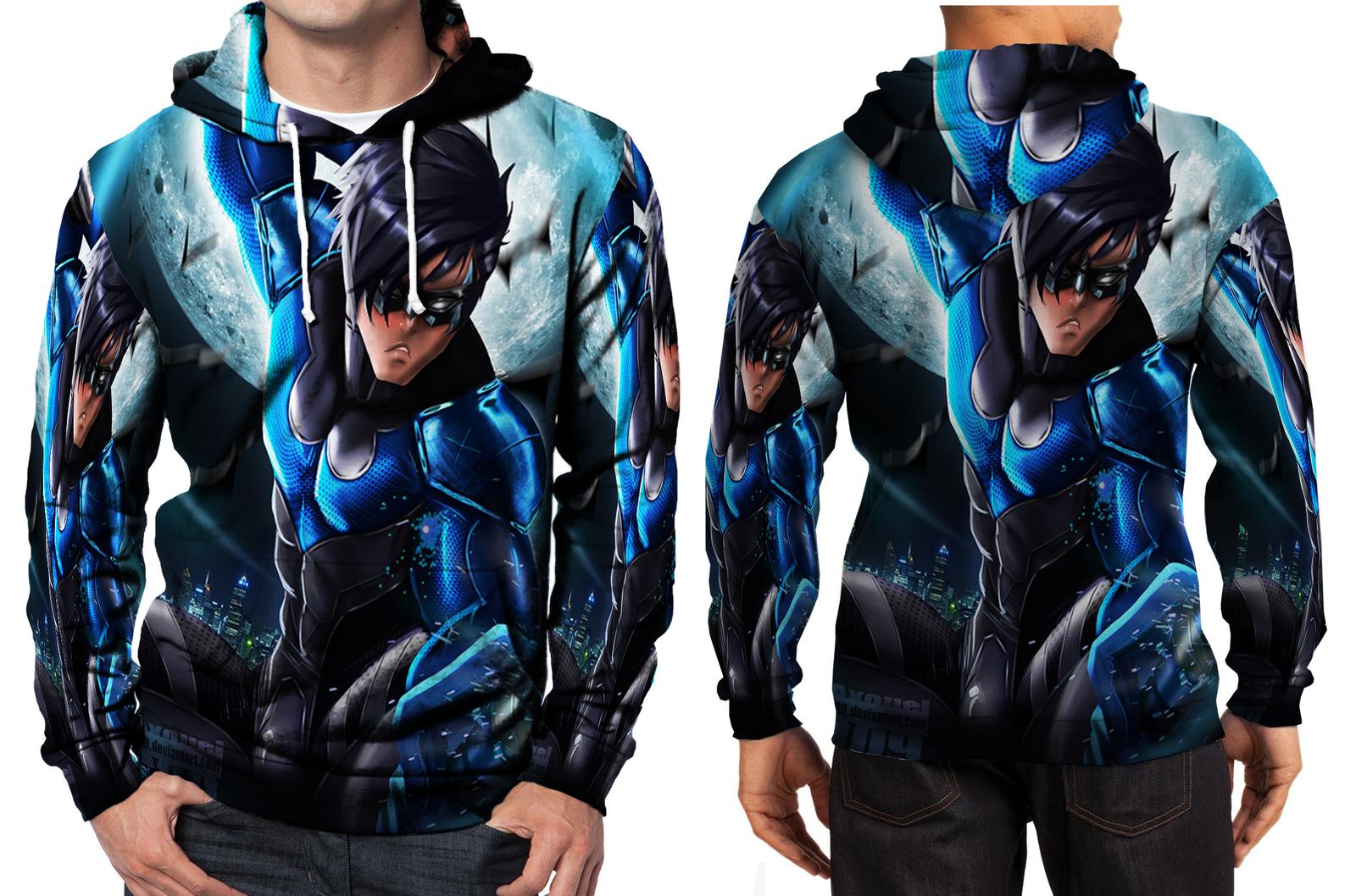 Nightwing hero hoodie men s
