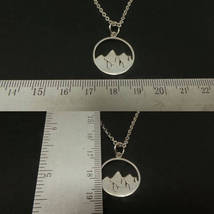925 Sterling Silver Mountain Necklace  image 4