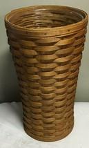 Vintage Longaberger Warm Brown Umbrella Basket w/ Protector - $93.10