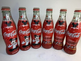 6 Pack FULL Coca Cola Classic Limited Edition Mickey Mouse 75 InspEARations  - $29.99