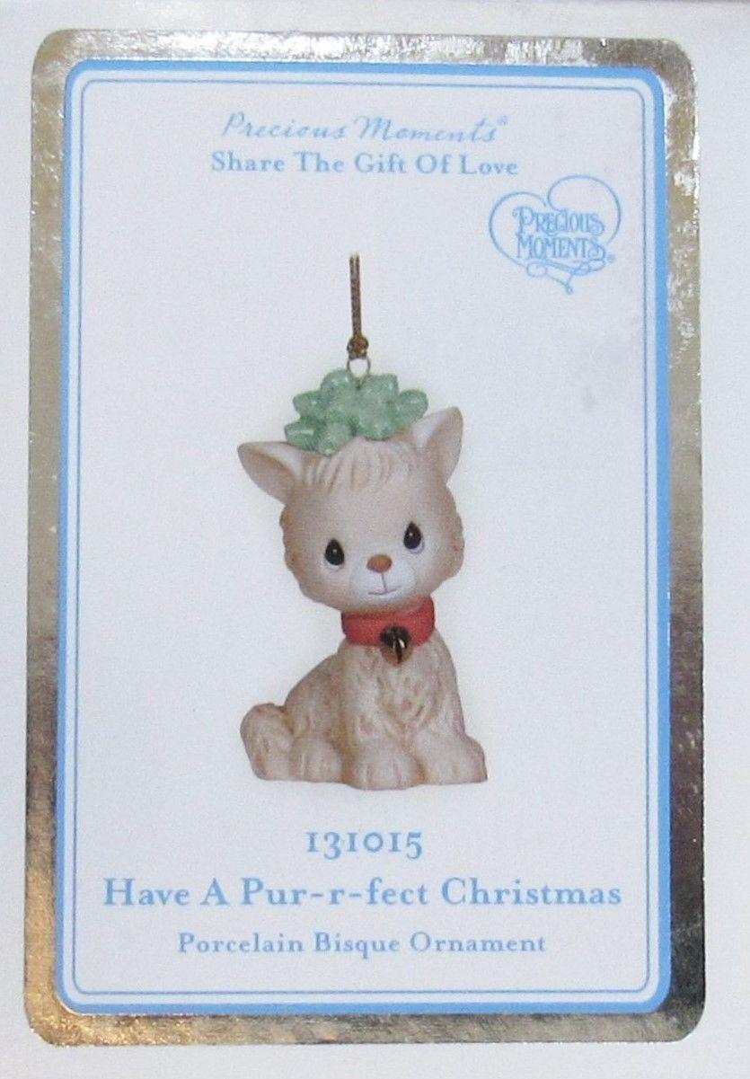 Precious Moments 'Have A Pur-r-fect Christmas' Kitten Cat Ornament #131015  NIB