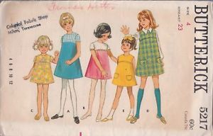 Primary image for Butterick  Pattern #5217 Children's One-Piece Dress or Jumper