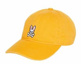 Psycho Bunny Men's Cotton Embroidered Skull Sports Baseball Cap Strapback Hat image 2