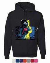 Neon Astronaut Hoodie Moon Landing Space Travel Universe Earth Sweatshirt - $28.60+