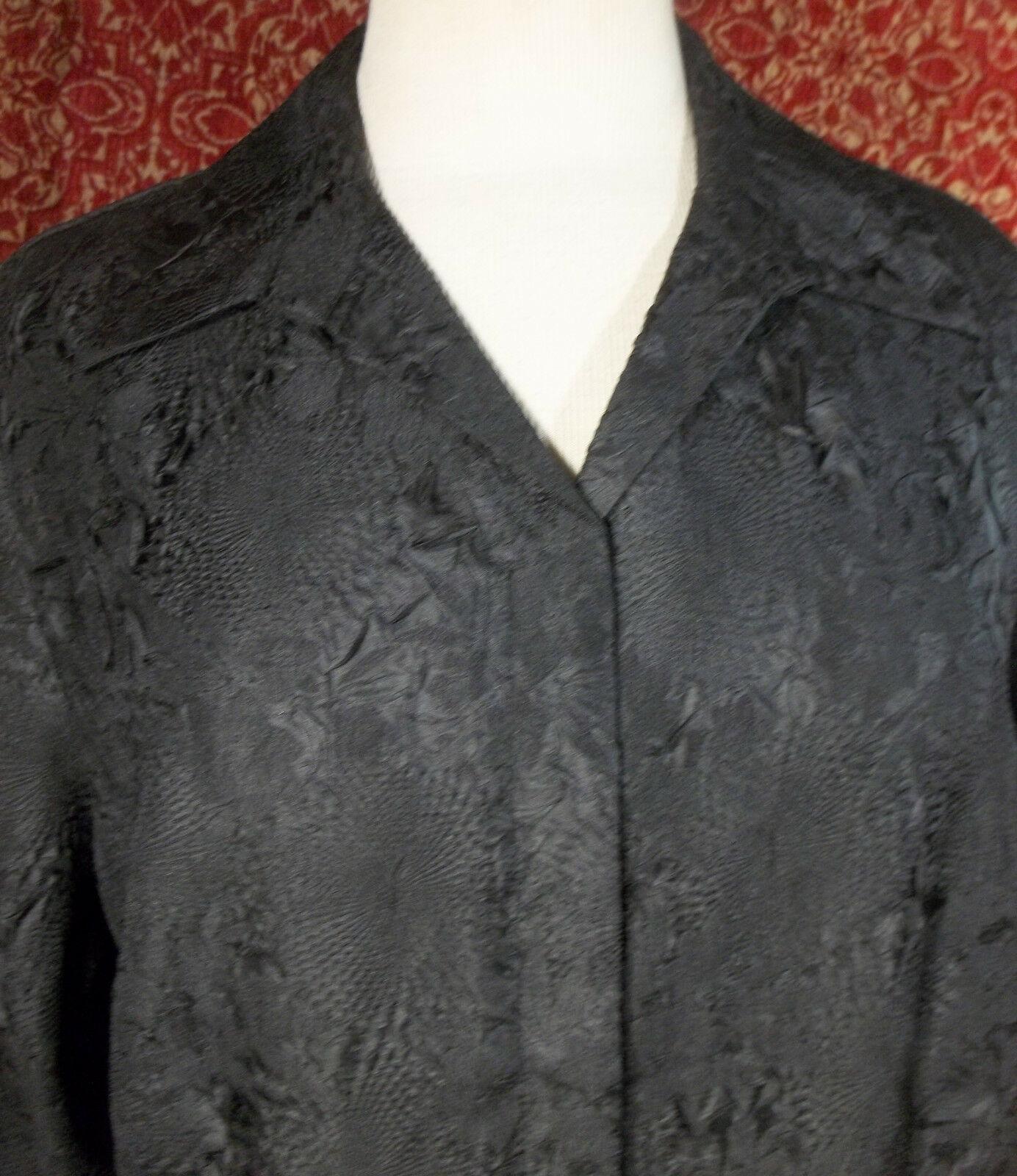 KORET black wrinkle polyester long sleeve blouse 16 (T45-03G8G) image 2