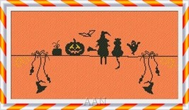 Waiting For Halloween cross stitch chart AAN Alessandra Adelaide Needleworks - $14.17