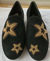 Michael Kors Femmes Chaussures Noir en Cuir Caoutchouc Semelle Broderie Size 6.5 image 2