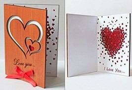 Valentine's Gift Wooden Anniversary Novelty Greeting Card For Boys And G... - $17.91