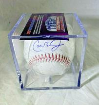 CAL RIPKEN JR / MLB HALL OF FAME / AUTOGRAPHED OML BASEBALL IN CUBE / TRISTAR image 6
