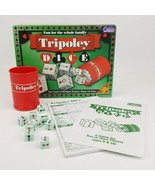 Tripoley Dice The Game of Michigan Rummy Hearts Poker 302 Cadaco 1997 Co... - $14.99