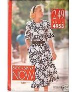 Butterick 4953 Misses'/Misses' Petite Dress - $1.75