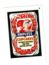 """2020 Mars Attacks Wacky Packages Series 3 """"HAPLESS CUPCAKES"""" #5 Sticker Card. - $2.99"""