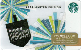 Starbucks 2014 Hanukkah Collectible Gift Card New No Value - $4.99