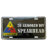 """3rd Armored Division Spearhead Black Tag 6""""x12"""" Aluminum License Plate M... - $13.84"""