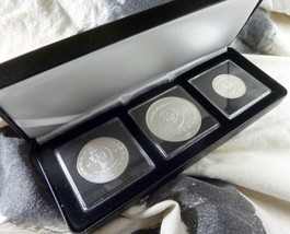 1997 Mexico .999 SILVER SKULL 3 COIN SET Santeria Wicca Vodou DISCO DE L... - $199.91