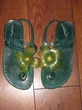 GAP Kids Green Rubber Jelly Clear Front Flower Beach Shoes Sandals Sz 12 - $9.99