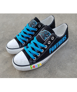 Carolina panthers shoes panthers sneakers super sowl fashion birthday gi... - $55.00+