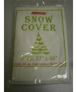"AMGLO SNOW COVER- 32"" X 48""- NEW- L85 - $4.85"