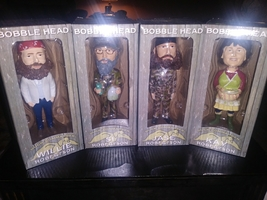 4 duck dynasty bobbleheads si jase willie kay brand new - $47.99