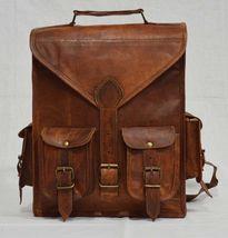 Vintage Real genuine leather Men's Backpack Bag laptop Satchel briefcase... - $45.99