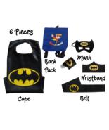 Super Hero Capes for Kids Halloween Costumes | 5pc Set | BA Bat Man Blac... - $17.81